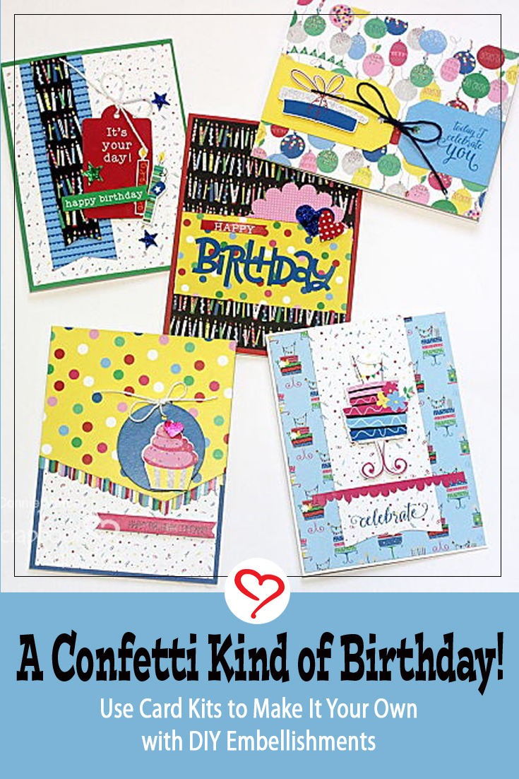 A Confetti Kind of Birthday by Connie Mercer for Scrapbook Adhesives by 3L Pinterest