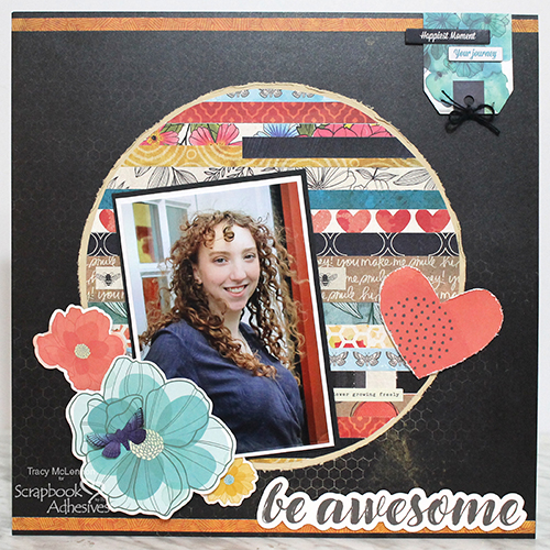 Be Awesome Patterned Background by Tracy McLennon for Scrapbook Adhesives by 3L