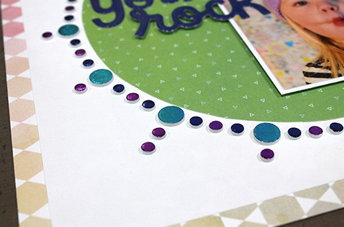 You Rock Foam Circle Layout by Tracy McLennon for Scrapbook Adhesives by 3L