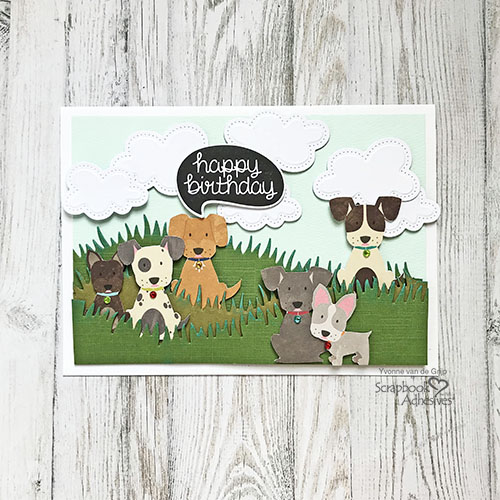 Doggone Cute Birthday Card by Yvonne van de Grijp for Scrapbook Adhesives by 3L