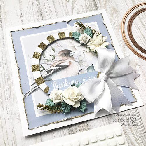 Thinking of You Circle Frame Card by Yvonne van de Grijp for Scrapbook Adhesives by 3L