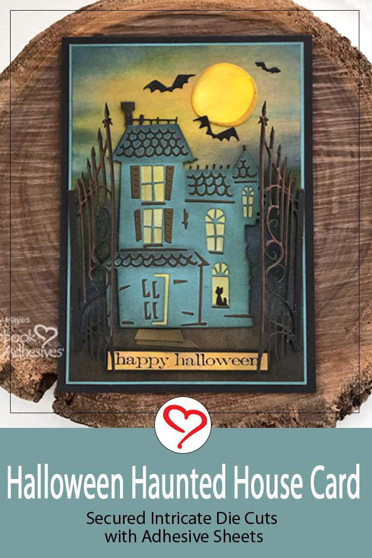 Haunted House Halloween Card by Judy Hayes for Scrapbook Adhesives by 3L Pinterest