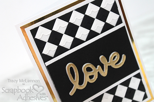 Checkered Pattern Love Card by Tracy McLennon for Scrapbook Adhesives by 3L