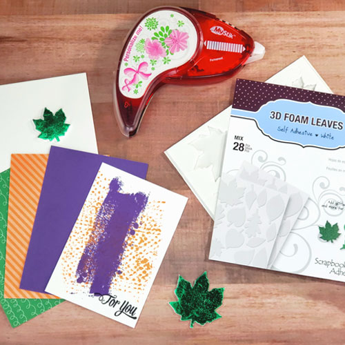 Colorful For You Fall Card Tutorial by Sheri Holt for Scrapbook Adhesives by 3L