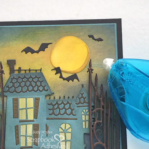 Haunted House Halloween Card by Judy Hayes for Scrapbook Adhesives by 3L