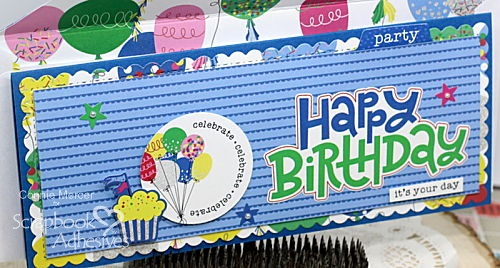 It's Your Day Birthday Slimline Card by Connie Mercer for Scrapbook Adhesives by 3L
