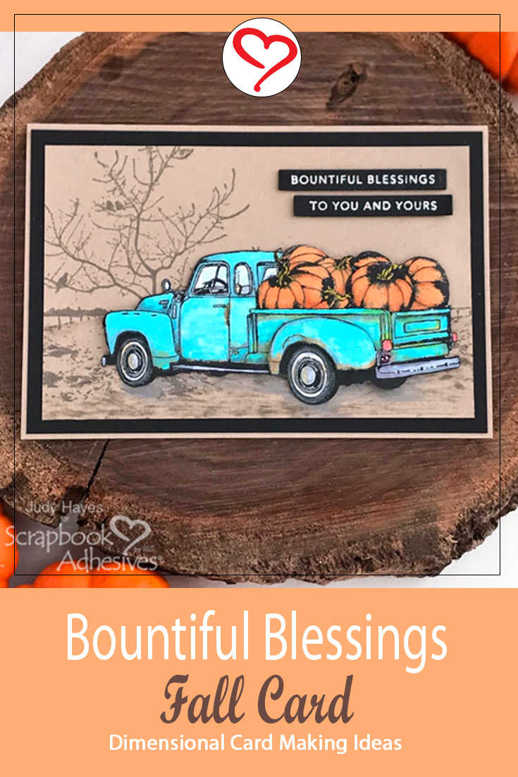 Bountiful Blessings Fall Card by Judy Hayes for Scrapbook Adhesives by 3L