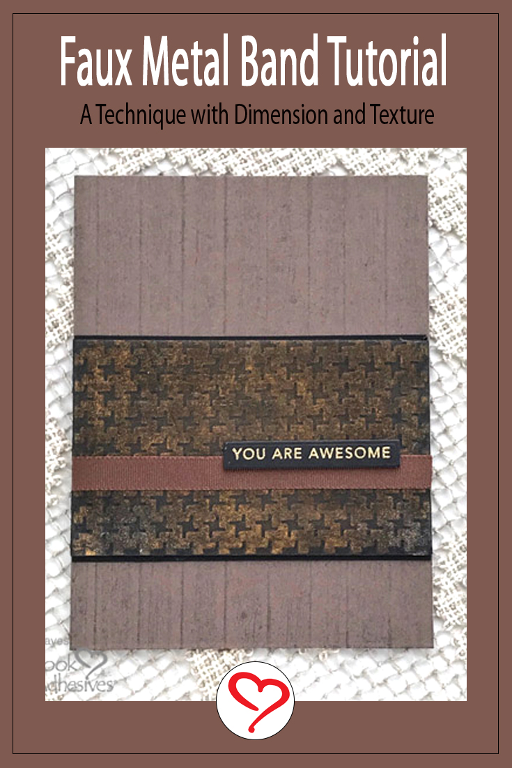 Faux Metal Band Masculine Card by Judy Hayes for Scrapbook Adhesives by 3L Pinterest