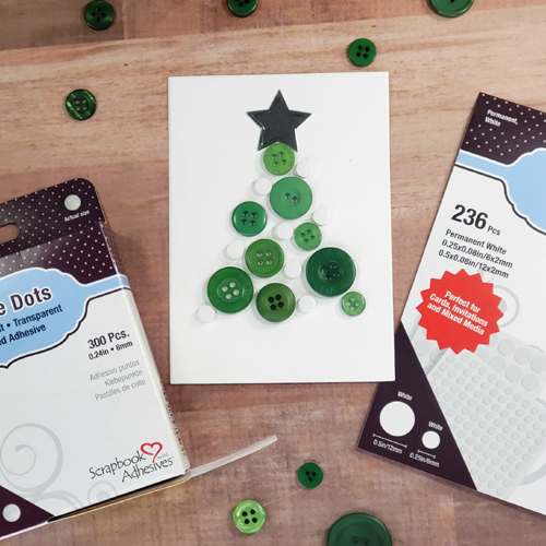 Foiled Dots and Buttons Holiday Card by Sheri Holt for Scrapbook Adhesives by 3L