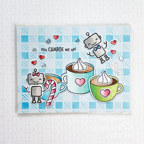 Robot Coffee Card with 2020 Fall/Winter Coffee Lovers Blog Hop by Teri Anderson for Scrapbook Adhesives by 3L