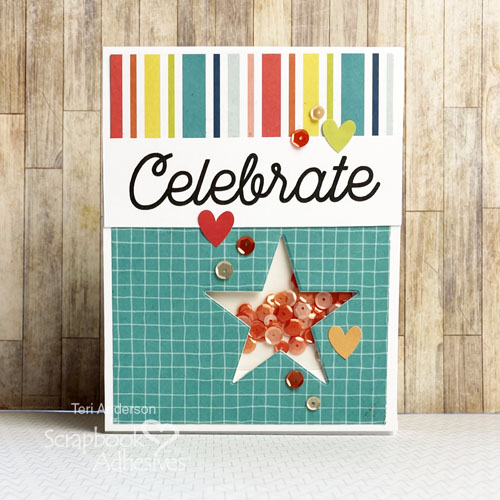Easy Shaker Birthday Cards by Teri Anderson for Scrapbook Adhesives by 3L