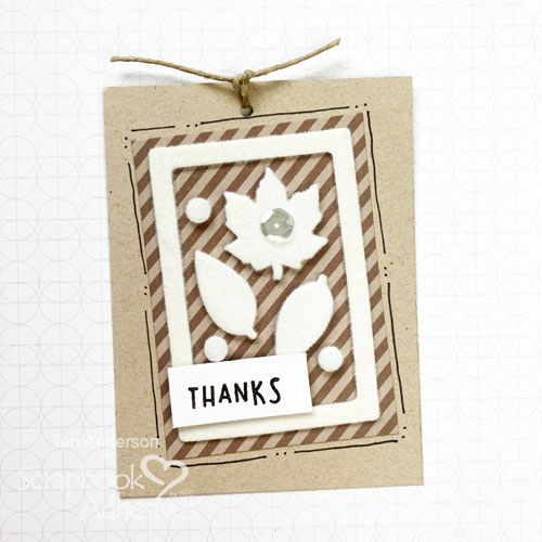 Easy Leaf Gift Tag Tutorial |by Teri Anderson fo rScrapbook Adhesives by 3L