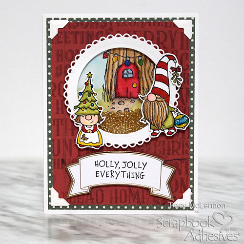 Holly Jolly Shaker Card by Tract McLennon for Scrapbook Adhesives by 3L