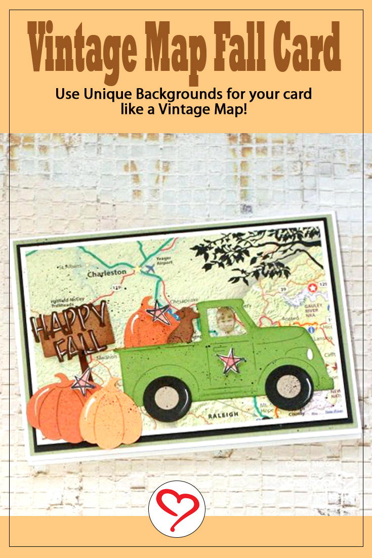 Vintage Map Fall Card by Connie Mercer for Scrapbook Adhesives by 3L Pinterest