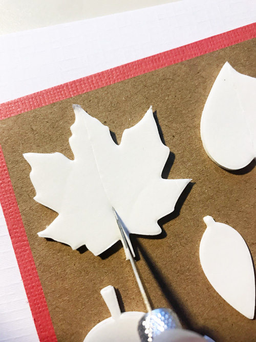 Autumn Color Leaves Card by Yvonne van de Grijp for Scrapbook Adhesives by 3L