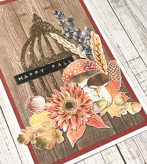 Glittered Cage Fall Card by Yvonne van de Grijp for Scrapbook Adhesives by 3L