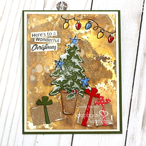 Inky Wonderful Christmas Card Tutorial by Connie Mercer for Scrapbook Adhesives by 3L