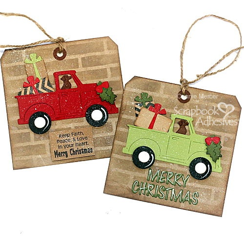 Truck Load of Holiday Gift Tags by Connie Mercer for Scrapbook Adhesives by 3L