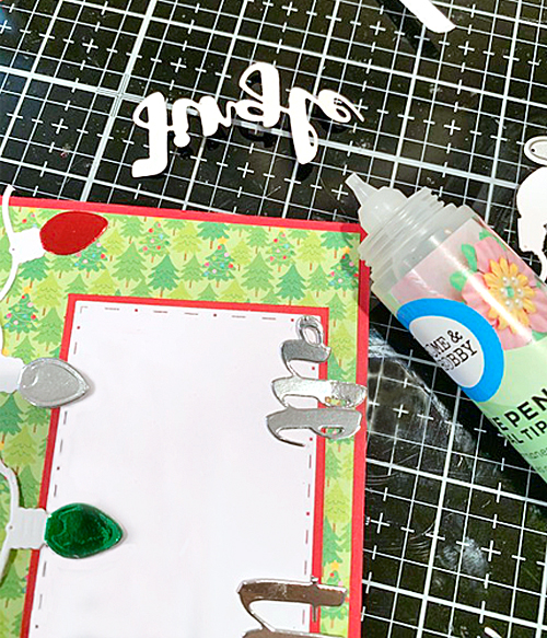 Elf Emma with Foiled Lights Card by Meghan Kennihan for Scrapbook Adhesives by 3L
