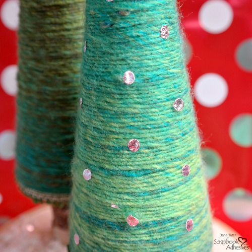 Yarn Tree Holiday Décor by Dana Tatar for Scrapbook Adhesives by 3L