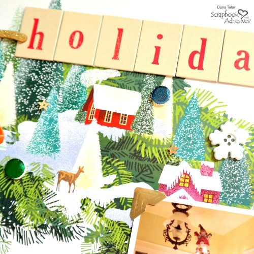 Poster Calendar Holiday Layout by Dana Tatar for Scrapbook Adhesives by 3L