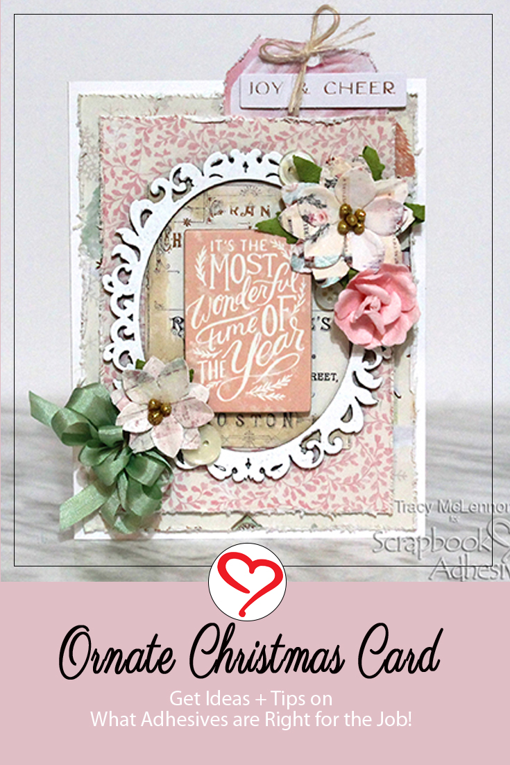 Ornate Christmas Card by Tracy McLennon for Scrapbook Adhesives by 3L Pinterest