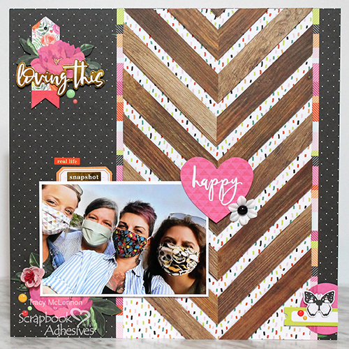 Simple Dimensional Border Layout by Tracy McLennon for Scrapbook Adhesives by 3L