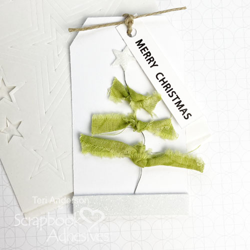Fabric Christmas Tree Tags by Teri Anderson for Scrapbook Adhesives by 3L