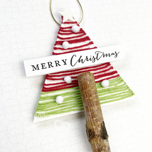 Christmas Joy Tree Ornaments by Teri Anderson for Scrapbook Adhesives by 3L