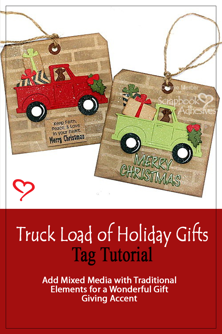 Truck Load of Holiday Gift Tags by Connie Mercer for Scrapbook Adhesives by 3L Pinterest
