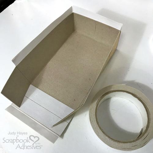 DIY Crafty Organization Box Tutorial by Judy Hayes for Scrapbook Adhesives by 3L