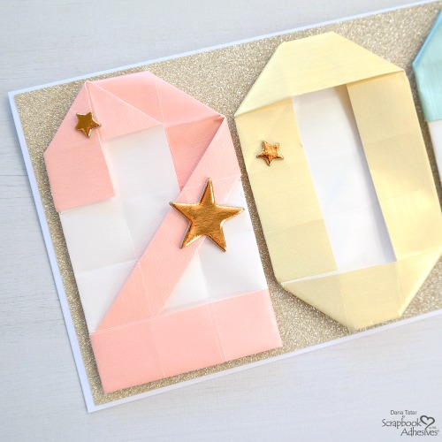 Origami 2021 New Year Card by Dana Tatar for Scrapbook Adhesives by 3L