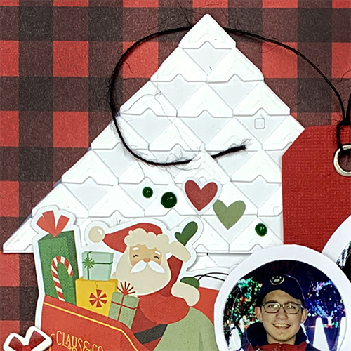 Christmas Tree Scrapbook Layout using Creative Photo Corners by Christine Meyer for Scrapbook Adhesives by 3L