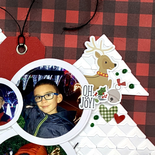 Christmas Tree Scrapbook Layout by Christine Meyer for Scrapbook Adhesives by 3L