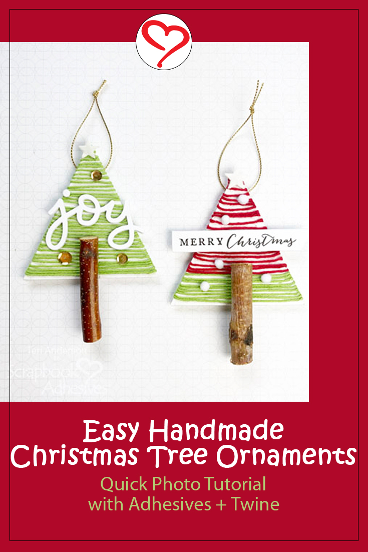 Christmas Joy Tree Ornaments by Teri Anderson for Scrapbook Adhesives by 3L Pinterest