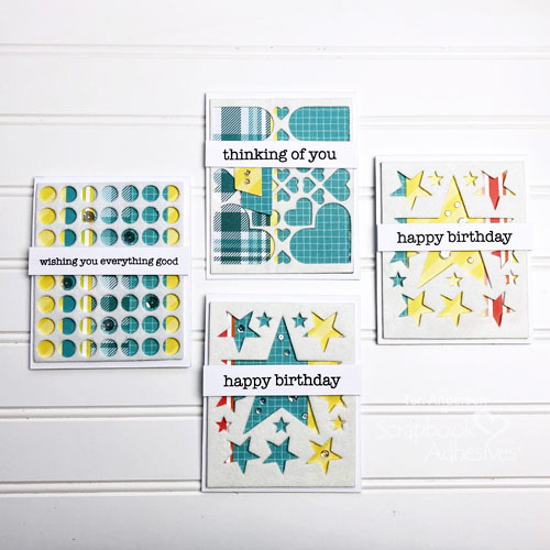 Easy Flocked Card Tutorial by Teri Anderson for Scrapbook Adhesives by 3L