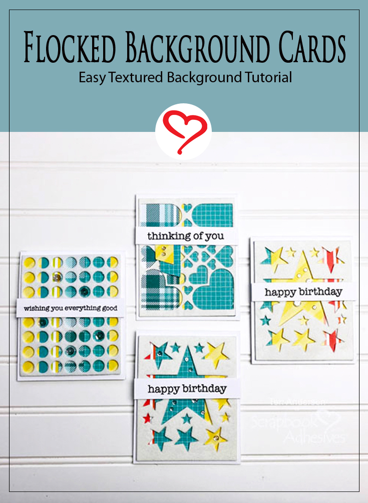 Easy Flocked Card Tutorial by Teri Anderson for Scrapbook Adhesives by 3L Pinterest