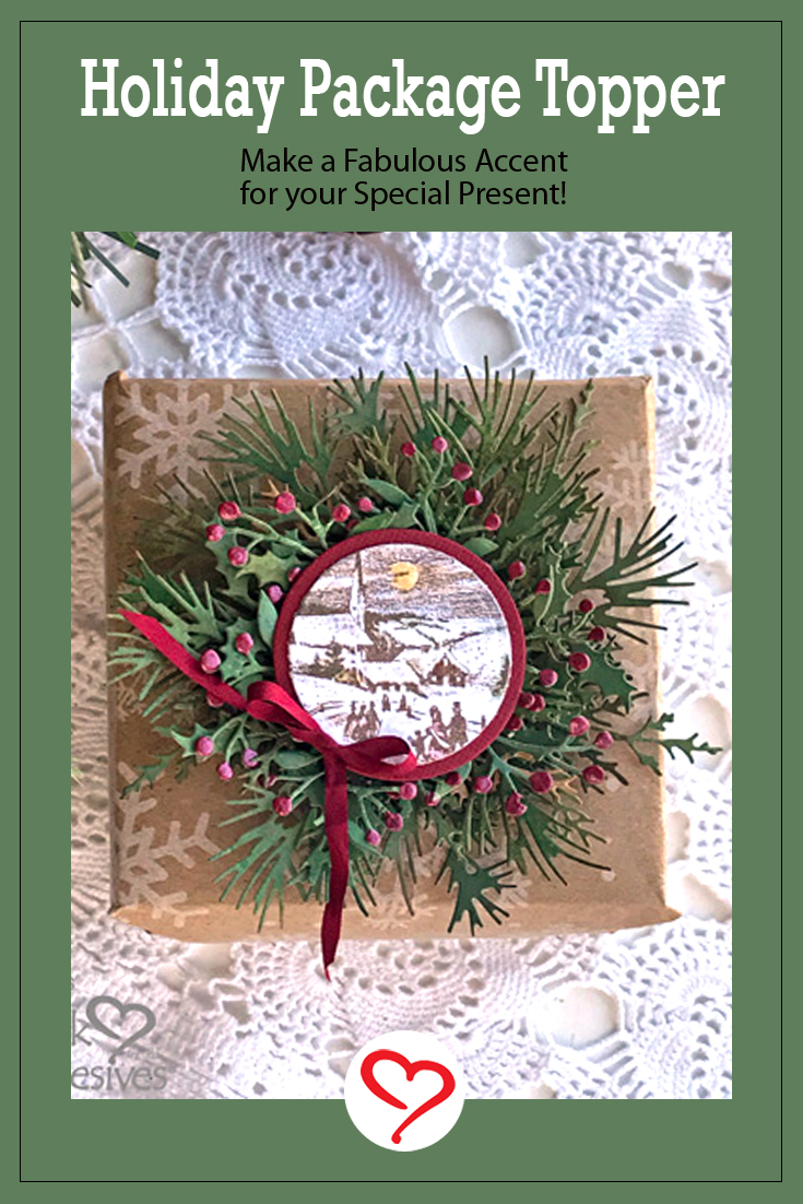 Holiday Package Topper by Judy Hayes for Scrapbook Adhesives by 3L Pinterest