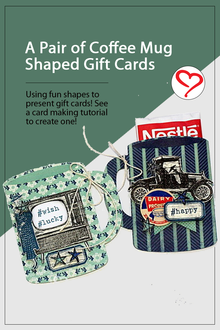 A Pair of Coffee Mug Gift Cards by Connie Mercer for Scrapbook Adhesives by 3L Pinterest