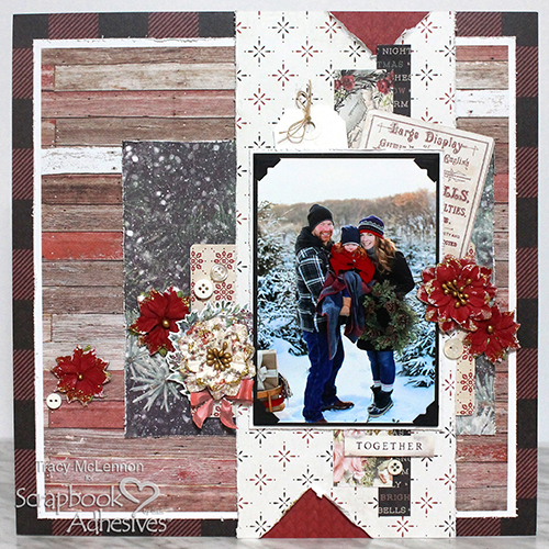 Together Dimensional Scrapbook Page by Tracy McLennon for Scrapbook Adhesives by 3L