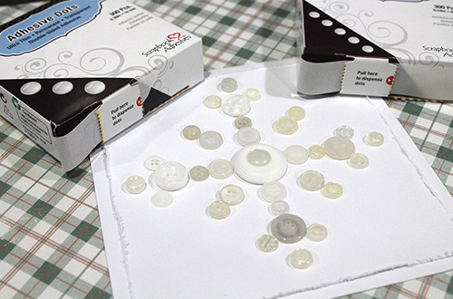 Button Snowflake Card by Tracy McLennon for Scrapbook Adhesives by 3L