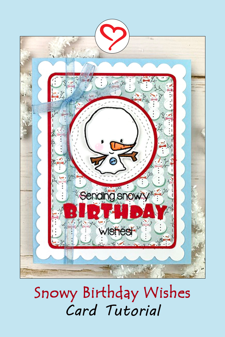Snowy Birthday Wishes Card by Meghan Kennihan for Scrapbook Adhesives by 3L Pinterest