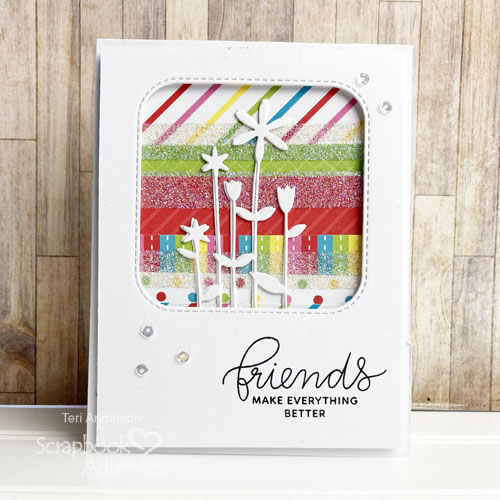 Flower Window Cards by Teri Anderson for Scrapbook Adhesives by 3L
