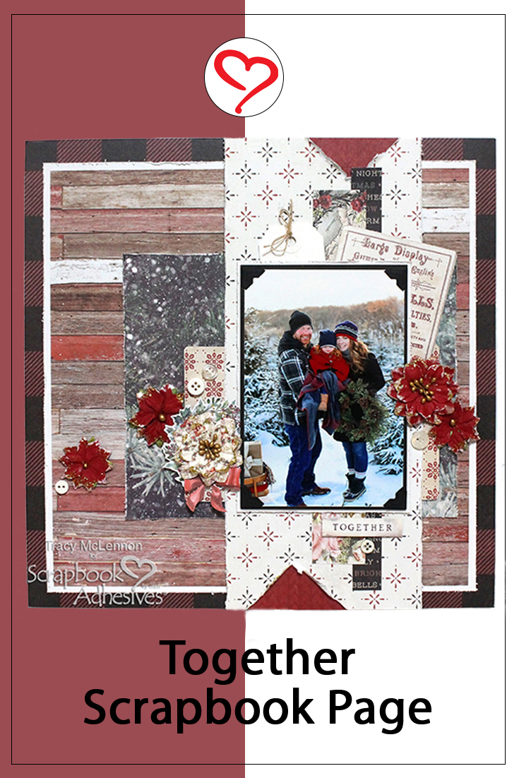Together Dimensional Scrapbook Page by Tracy McLennon for Scrapbook Adhesives by 3L Pinterest