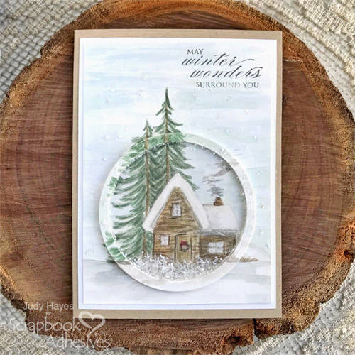 Winter Wonders Shaker Card by Judy Hayes for Scrapbook Adhesives by 3L