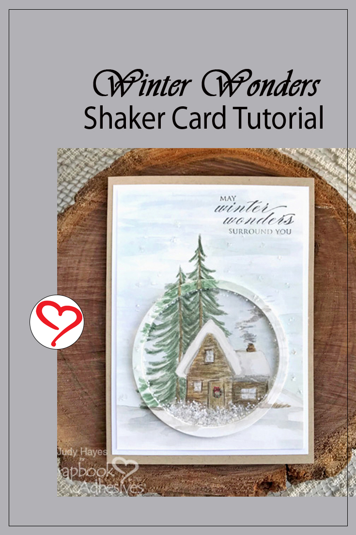 Winter Wonders Shaker Card by Judy Hayes for Scrapbook Adhesives by 3L Pinterest