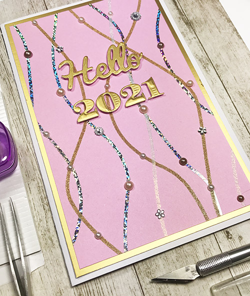 Sparkle & Bright Hello 2021 Card by Yvonne van de Grijp for Scrapbook Adhesives by 3L