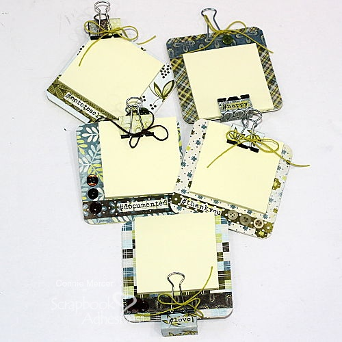Cute Mini Coaster Clipboard by Connie Mercer for Scrapbook Adhesives by 3L