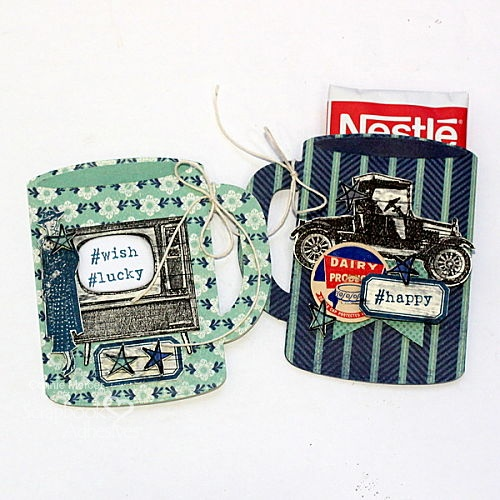 A Pair of Coffee Mug Gift Cards by Connie Mercer for Scrapbook Adhesives by 3L