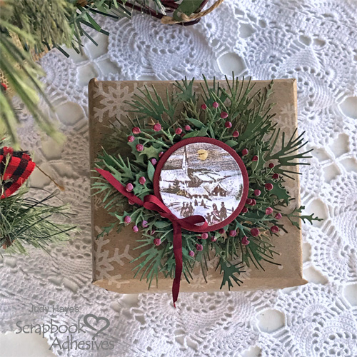 Holiday Package Topper by Judy Hayes for Scrapbook Adhesives by 3L